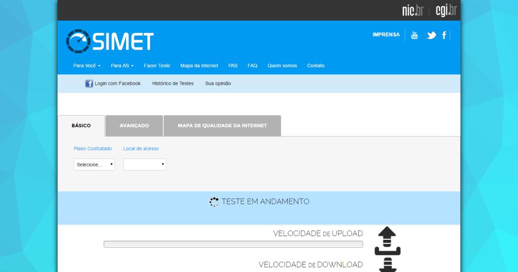 Simet O melhor medidor de qualidade da Internet do Brasil