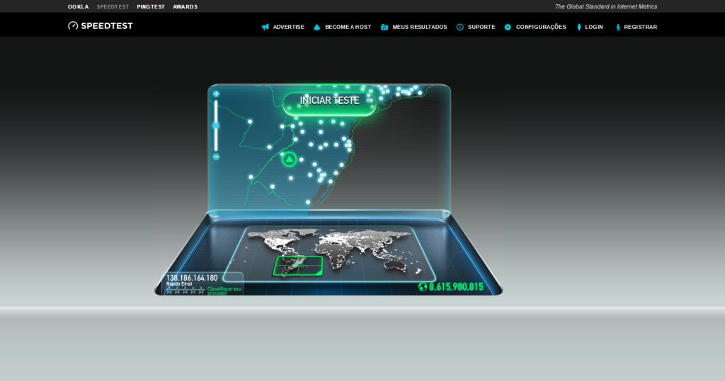 Speedtest.net by Ookla Teste de Velocidade de Conexão da Internet