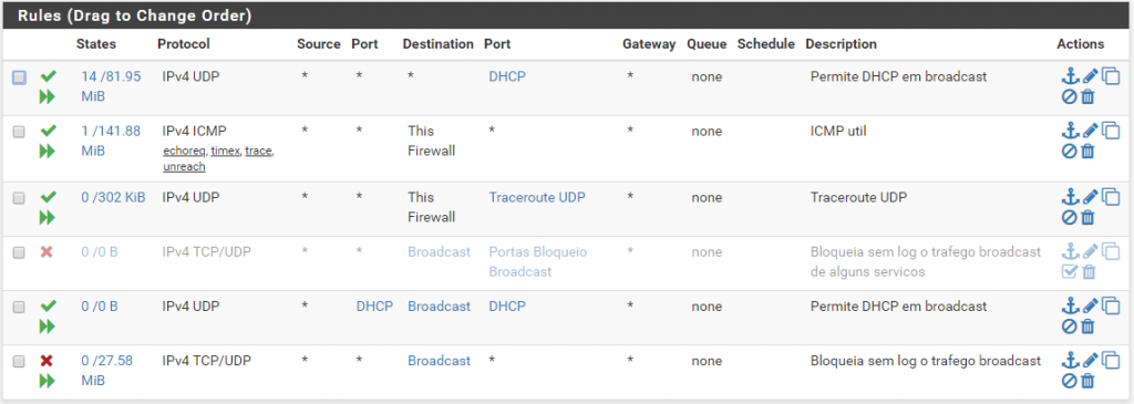 Interface de Configuração do Firewall pfSense