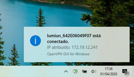 VPN Empresarial conectado